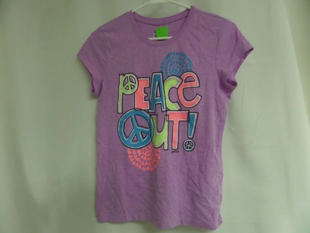 NWT Girls Justice Purple Lama Short Sleeve Top My Dad When My Friends are...