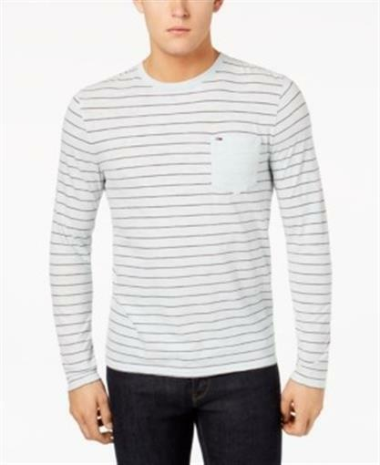 d225949bc13 Thank you for your interest in our item and we look forward to doing  business with you. Tommy Hilfiger T Shirt Stripe Light Blue Mens Medium New