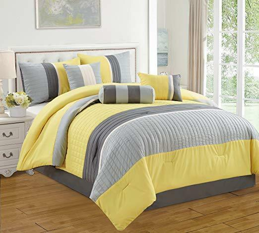 Yellow Microfiber Cloths Costco: DCP 7 Piece Bed In Bag Microfiber Luxury Comforter Set