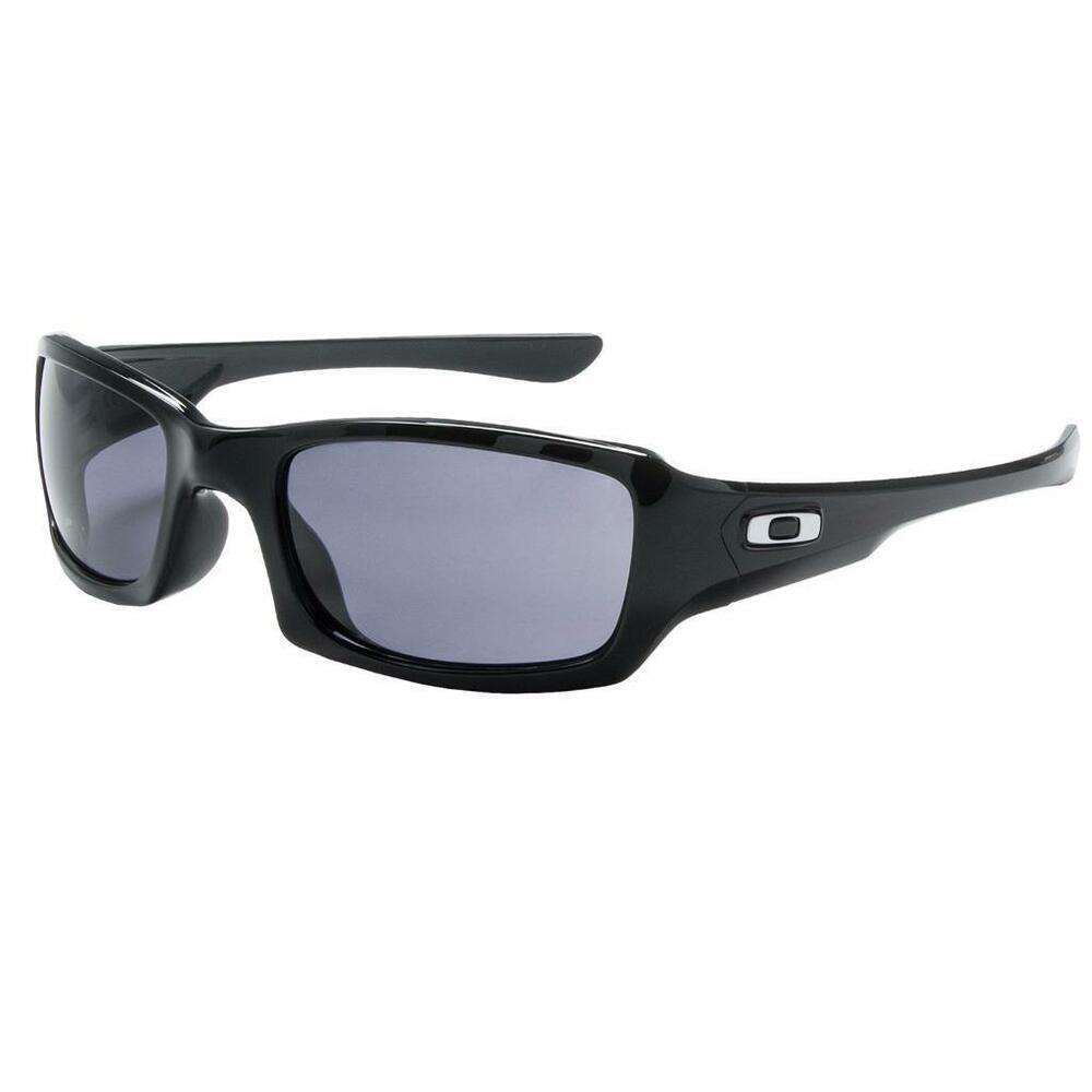 3c7cd63ffa7 Details about New Oakley Fives Squared Sunglasses Black Grey Free Shipping!  OO9238-04