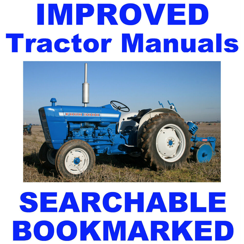 Ford 3000 Tractors PARTS, SERVICE, OWNERS Manual -6- MANUALS- BEST  SEARCHABLE CD | eBay