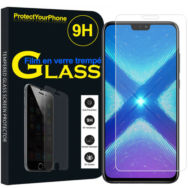 Vitre Protection Écran Film Verre Trempe Huawei Honor 8X 6.5