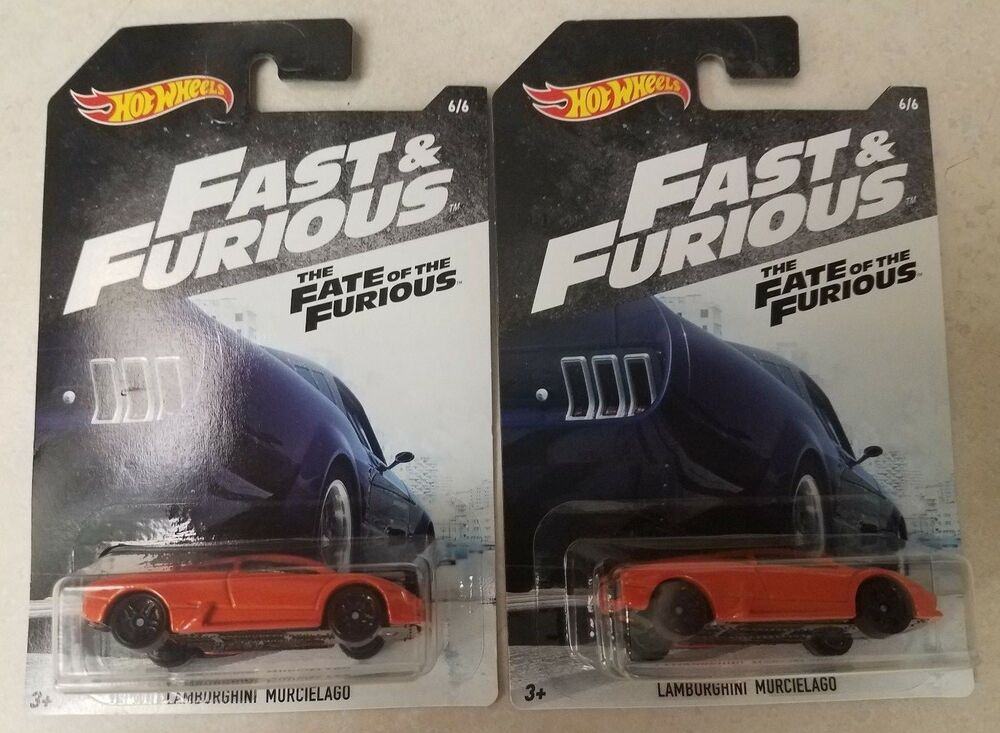 Hot Wheels Lot Of 2 Lamborghini Murcielago Fast Furious Fate