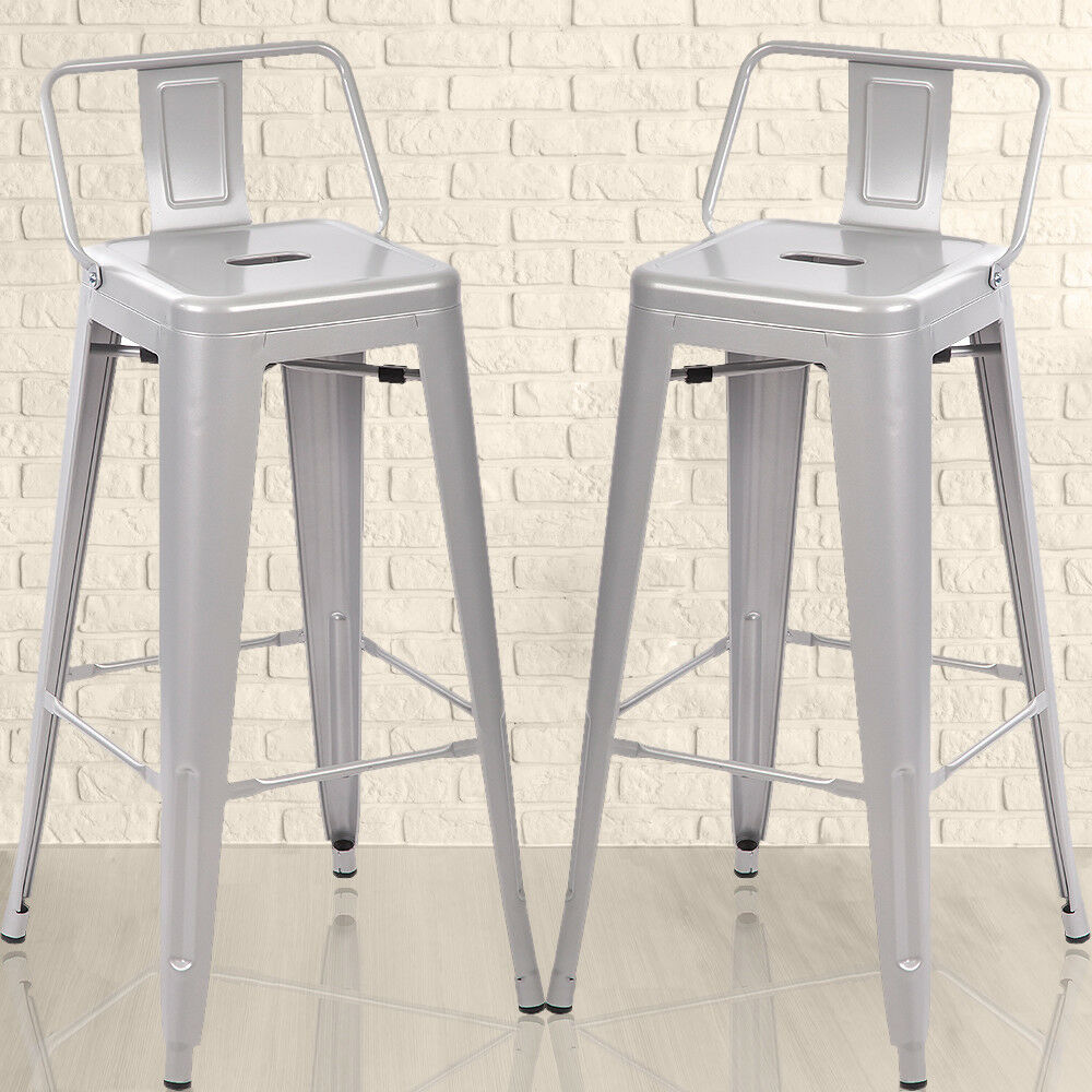 30inch Metal Tolix Style Bar Stools Bistro Industrial Chair With
