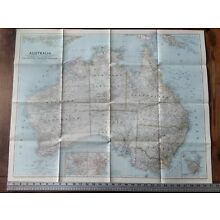 1948 National Geographic Vintage Wall Map Of Australia