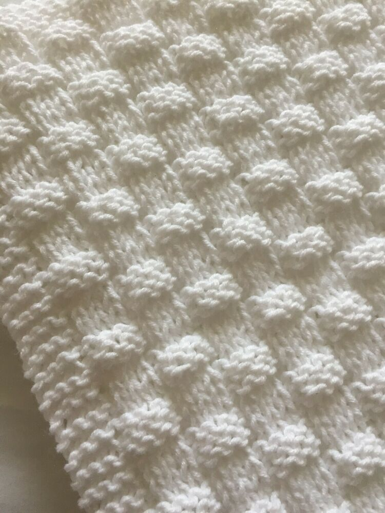 Knitting Pattern Quick And Easy Basket Weave Baby Blanket Ebay