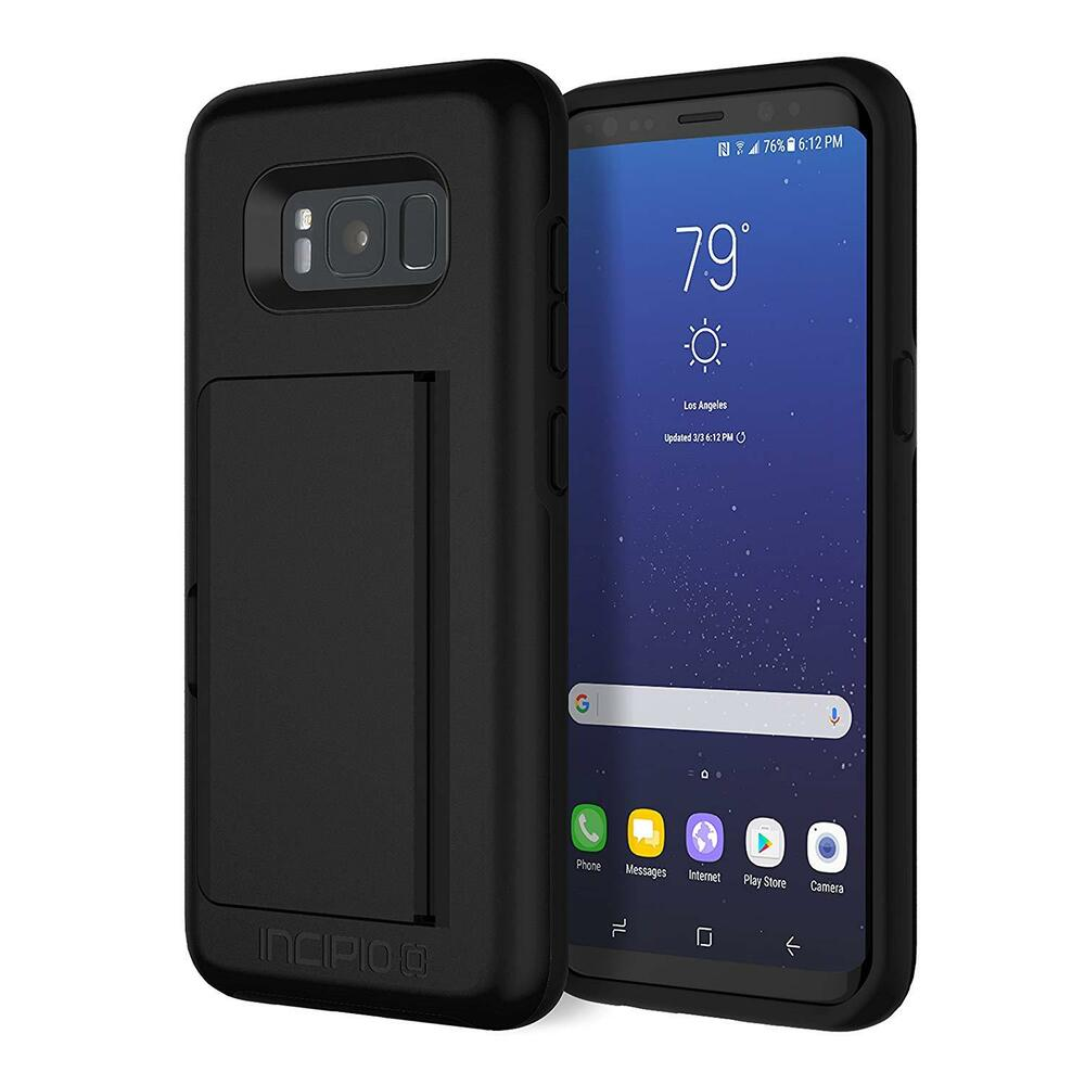 low priced 5264a 4e997 Incipio Stowaway Case for Samsung Galaxy S8 Credit Card Hard Shell Case  (Black) 191058017376 | eBay