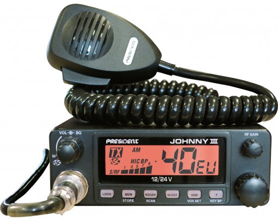 President Johnny-3 ASC 12-24V Mobile CB Transceiver