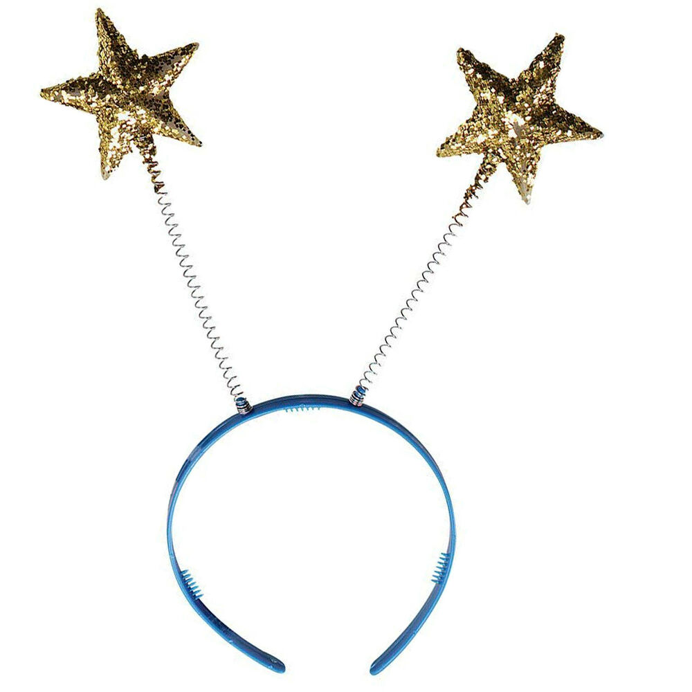Details about New Gold Glitter Star Head Boppers Headband Christmas  Nativity Party Fancy Dress bdfc083528c