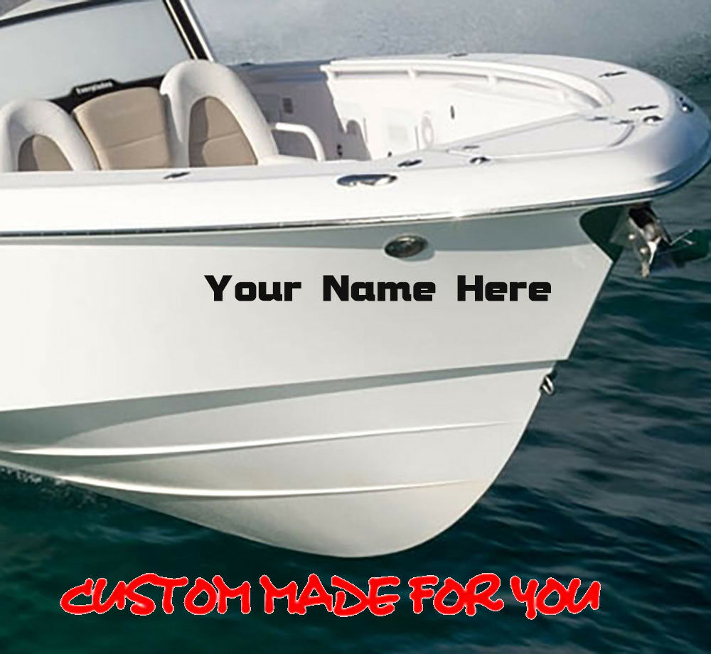 Details about 2 x boat name stickers decal graphics