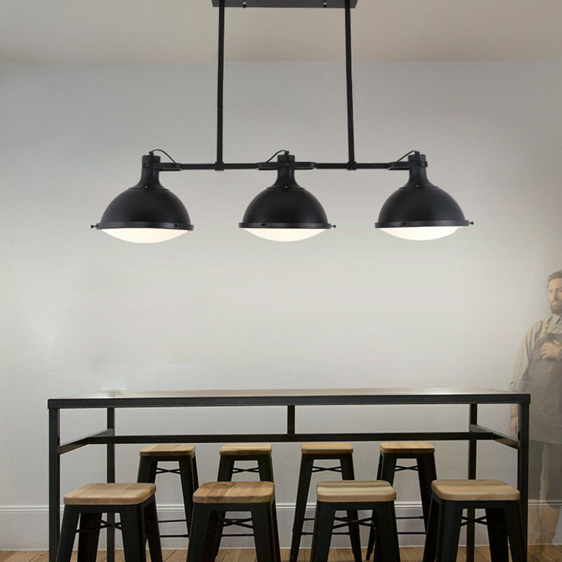 Pendant Lights Contemporary Black Metal Farmhouse Kitchen ...