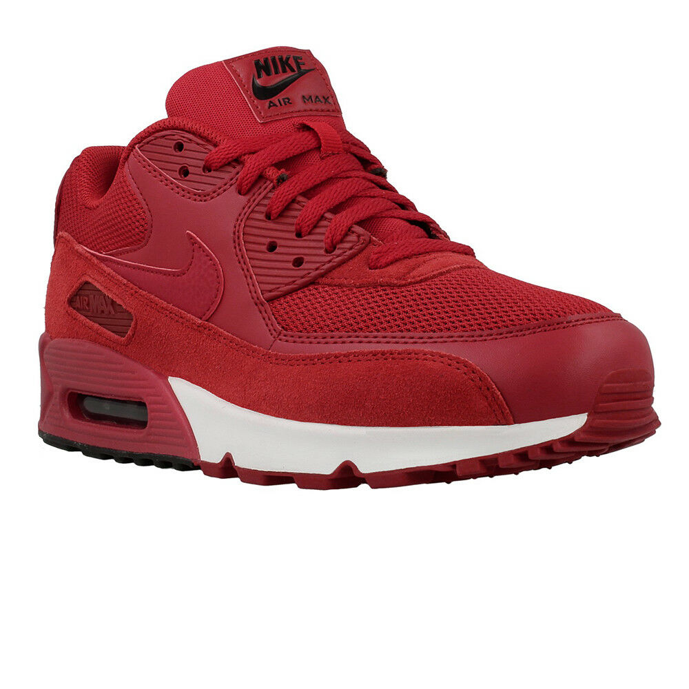 new products 1a95f 45dc3 Details about 537384-604 MENS NIKE AIR MAX 90 ESSENTIAL SHOES !! GYM RED GYM  RED BLACK WHITE