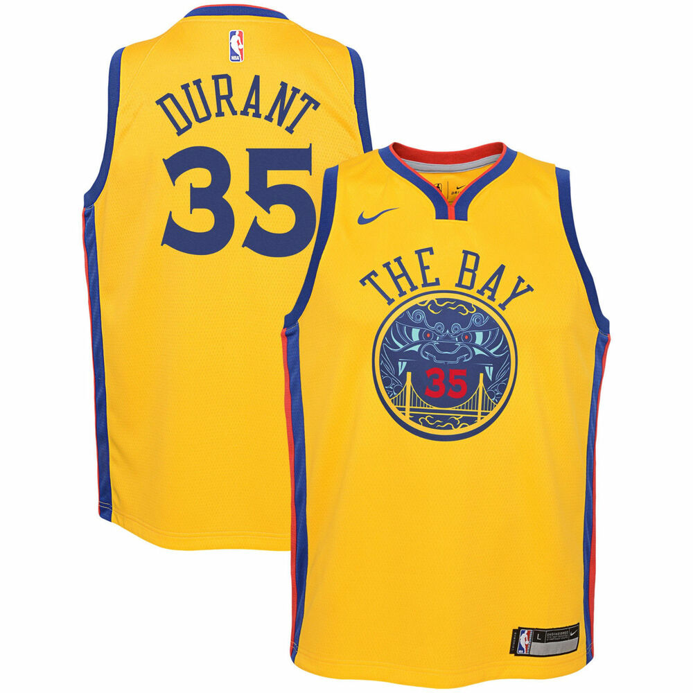 eb4984a0e Details about Nike Golden State Warriors Curry or Durant Youth Swingman  Jersey  Choose Size