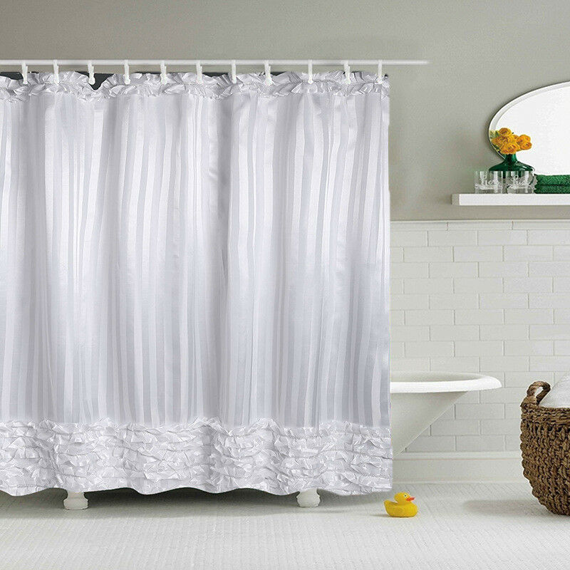 Details About Shower Curtain White Princess Dress Design Bathroom Waterproof Odor Free