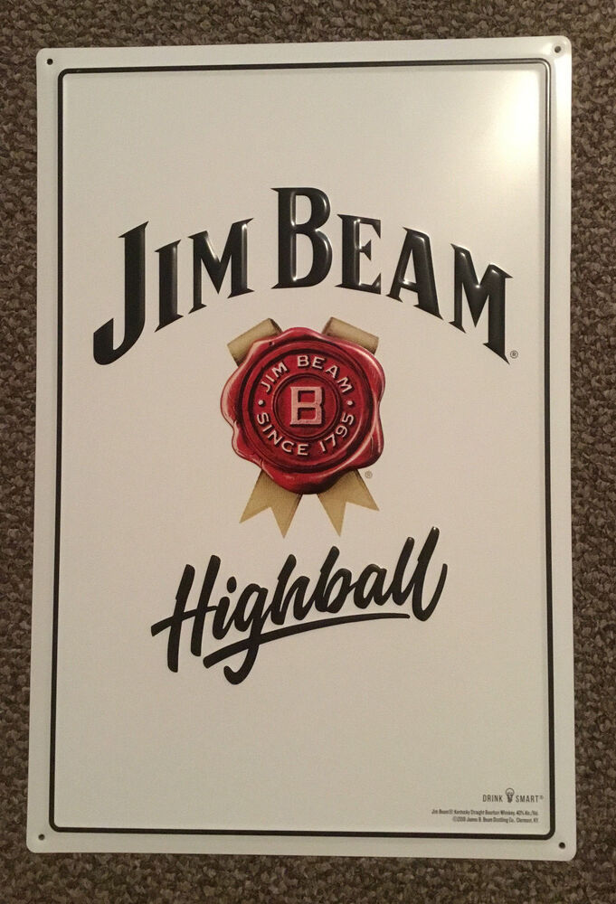Jim Beam Highball Tin Sign 18 Quot X 12 Quot Set Of 5 Signs Ebay
