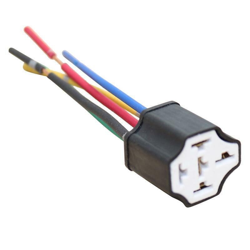 details about universal 12v 5-pin car automotive wire relay socket harness  connector kit