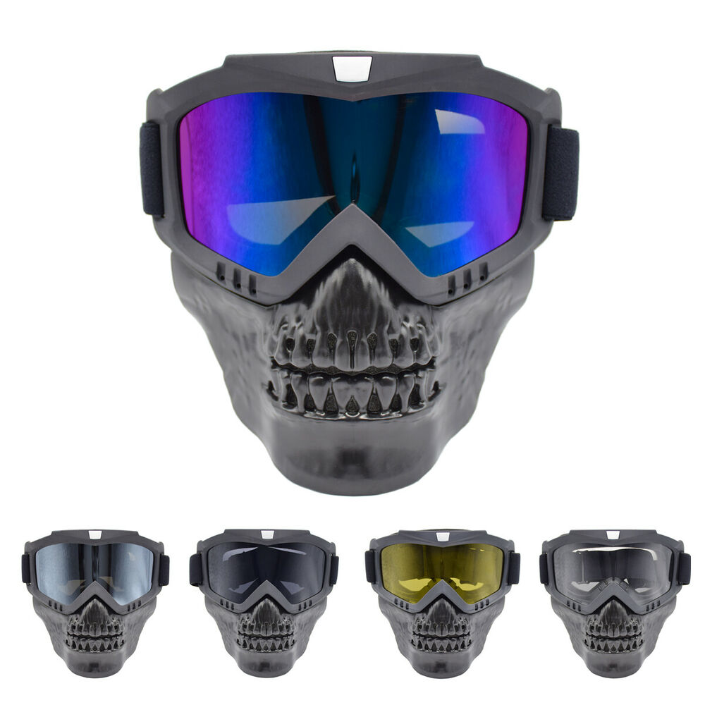 153ad7ec34 Motocross Motorcycle Goggles Detachable Mask Dirt Bike Windproof Sports  Goggles