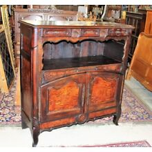 French Antique Burl Walnut Tall Sideboard Cabinet Circa 1780 | Dining Furniture