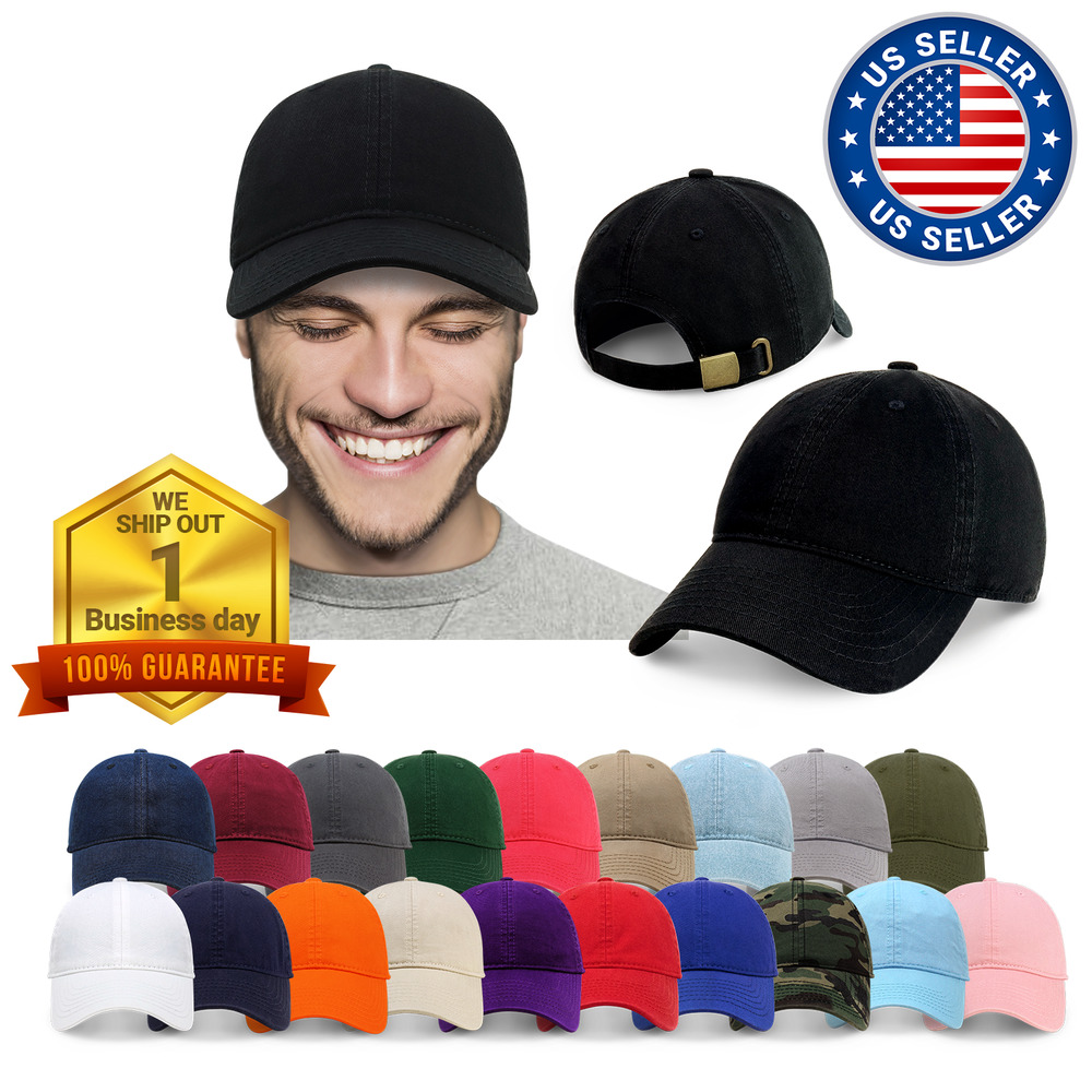 Details about ChoKoLids Cotton Dad Hat Adjustable Blank Cap Low Profile  Unstructured 89ecff15102