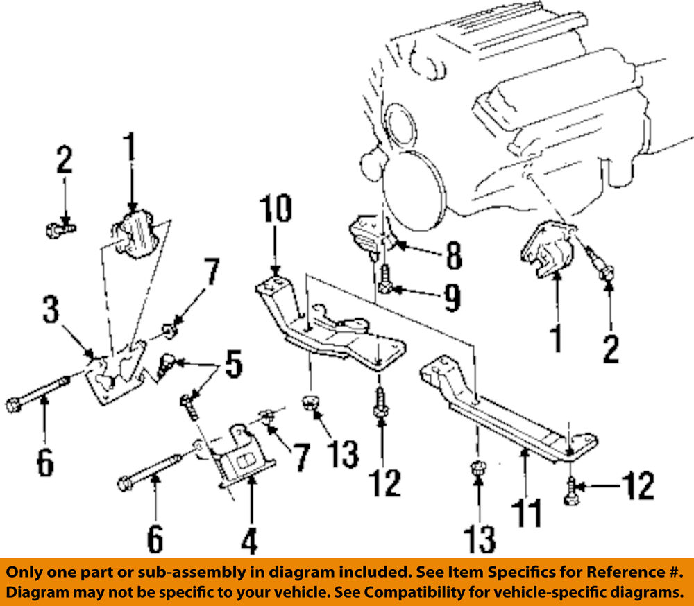 details about pontiac gm oem engine motor transmission-transmission cross  member nut 10406946