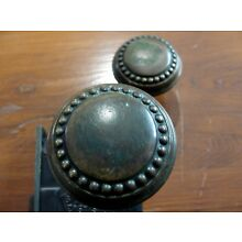 1886 SARGENT Copper & bRASS // Knobs and BACK PLATES Plate Set LOCK