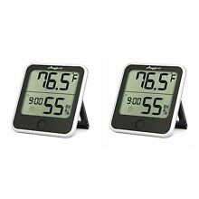 Humidity Monitor - Anypro Hygrometer Thermometer 2-in-1 w/ Temp Gauge - 2 Lot