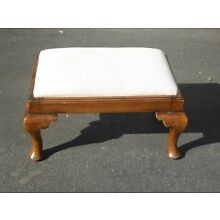 Vintage French Country Style Solid Wood Footstool Ottoman