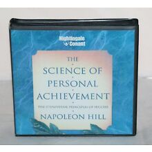 The Science of Personal Achievement Napoleon Hill 6 CD Set + CD for Workbook EUC