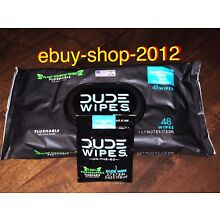 DUDE WIPES 48 WIPE PACK! New POPUP W/ FREE Dude Wipes Single! 🚽ebuy-shop-2012🚨