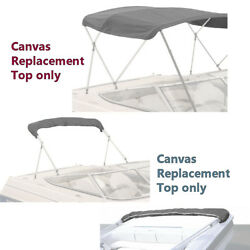 Kyпить Boat Pontoon 4 Bow Bimini Top Replacement Canvas with Zippered Pockets No Frame на еВаy.соm