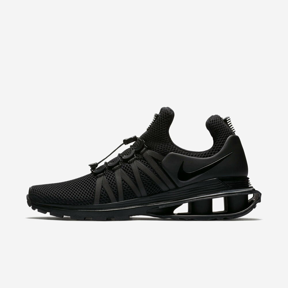 0bed20617692 Details about Nike Shox Gravity Low NZ Turbo Men s Size 8-10 Triple Black  AR1999-001