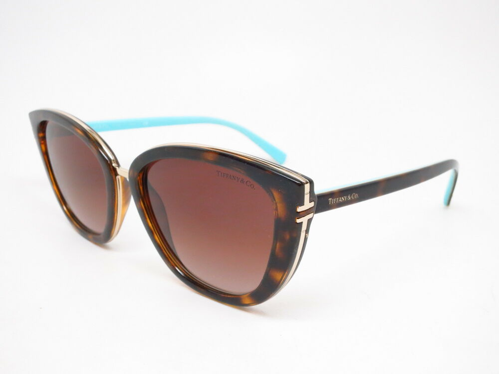 16bbdfee3df7 Details about New Authentic Tiffany   Co TF 4152 8015 3B Havana with Brown  Gradient Sunglasses