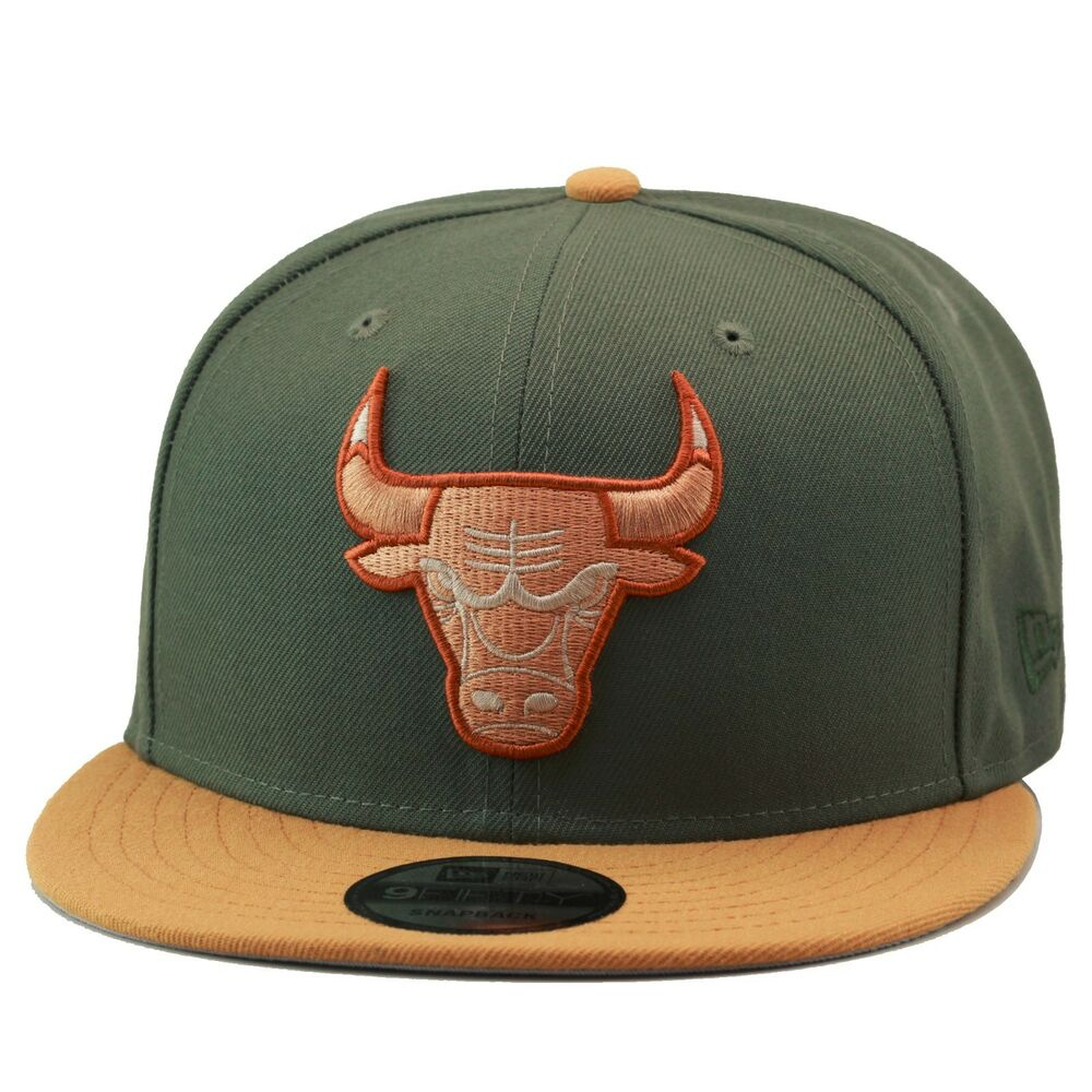 Details about New Era Chicago Bulls Snapback Hat Olive Green Wheat For  timberland 6