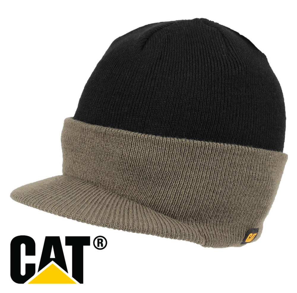 NEW MENS CATERPILLAR CAT VINTAGE WARM WORK OUT DOOR KNITTED THERMAL WINTER  HATS  ed41b09cf795