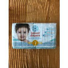 The Honest Company Disposable Baby Diapers, Teal Tribal, Size 1 (8-14lbs) 44 Ct