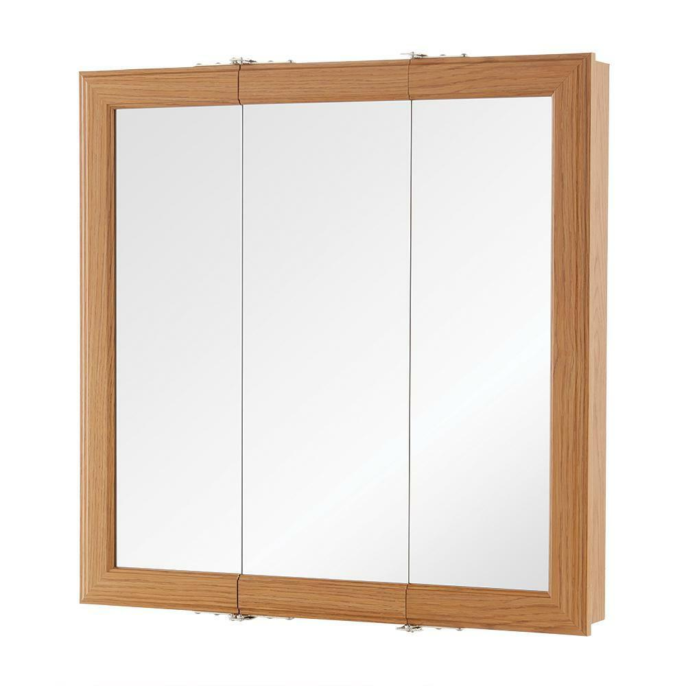 HOME DECORATORS 24 In W X H Fog Free Framed Surface Mount