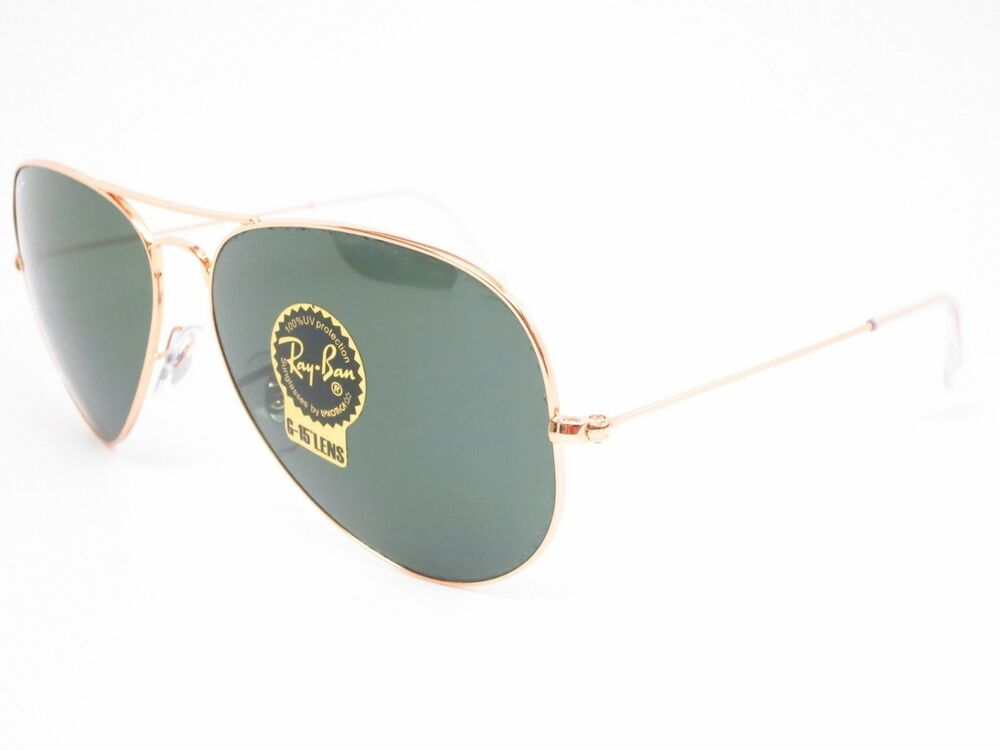 948375496e Details about New Ray Ban Large Aviator II RB3026 L2846 62mm Gold w G-15  Green