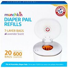 FREE SHIPPING!!! Munchkin Arm & Hammer Diaper Pail Refill Bags - 20-Count NEW