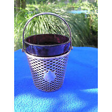 Sterling silver and sparkling glass basket by International