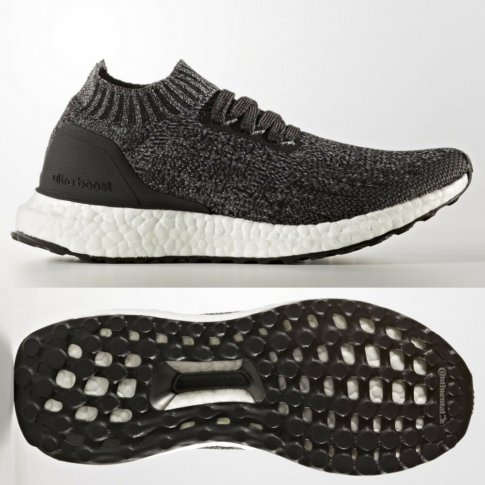 timeless design 9f443 c7834 Details about adidas UltraBOOST Uncaged Junior Running Shoes Black Grey  Ultra Boost Kids 3-6.5