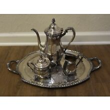 Vintage Silver Plate Wickford International Silver Co. 4 Piece Set