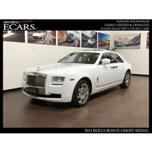 2011 Rolls-Royce Ghost  2011 Ghost White Pano Roof Picnic Tables Piano Black Wood Heads Up Display 26k