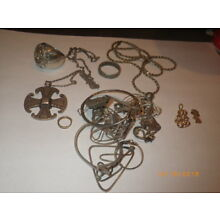 Sterling silver scrap and gold