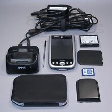 Dell Axim X51v Windows Mobile PDA w/Dock Power Supply, 2GB SD Card Battery WORKS