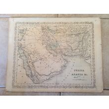 Antique Persia Arabia 1856 Charles Desilver Antique Map - Middle East