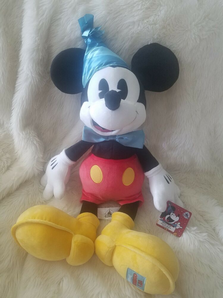 Details About Disney Parks Exclusive Mickeys 90th Birthday Party Hat Mickey Mouse Jumbo Plush