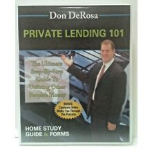 Real Estate Investor Course PRIVATE LENDING 101 CD/Book/Forms UNUSED