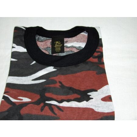 img-RED CAMOUFLAGE T-SHIRT Made IN USA poly/cotton Size 3XLARGE