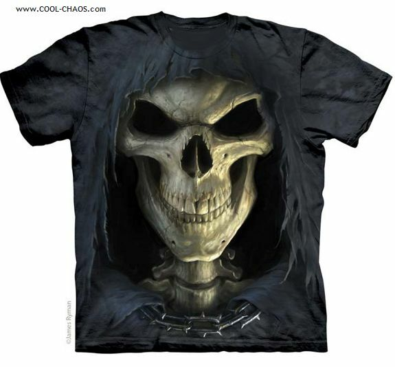 bbf281ad5fa Details about Reaper of Death T-Shirt-3D Skull