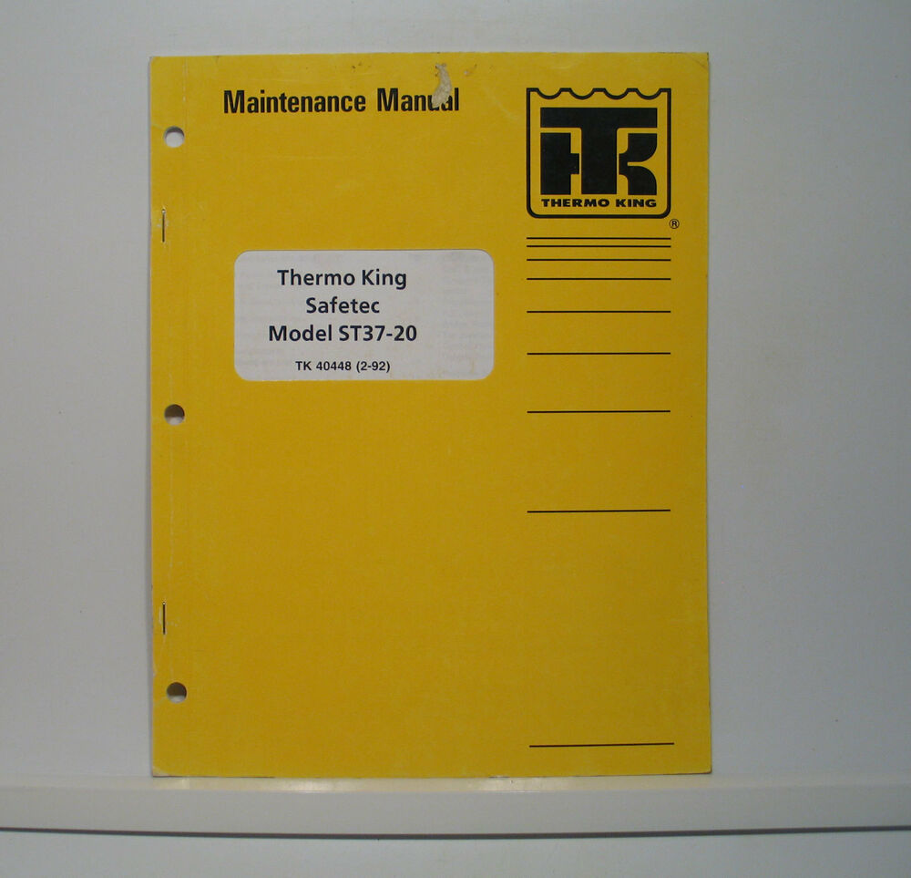 Thermo King Safetec ST28-10 Constant Air Heater Repair Maintenance Manual  Parts | eBay